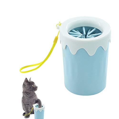 Einen Schritt Sanftes Reinigungsmittel (YXYXN Tragbarer Haustier-FußWaschbecher, Hundepfotenreiniger, Haustier-FußWaschbecher, 360-Grad-Tiefenreinigung, Perfekt FüR Schmutzige Und Schlammige Pfoten,lightblue)