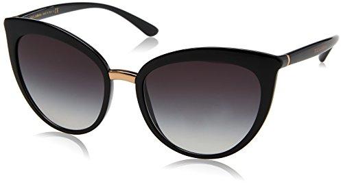 Dolce & gabbana 0dg6113 501/8g 55 occhiali da sole, nero (black/gradient), donna
