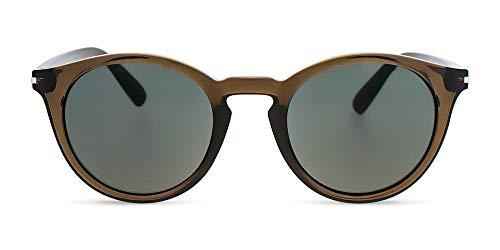 MessyWeekend Hobbes - Runde Moderne Dänische Designer Sonnenbrillen mit UV400 Schutz Army