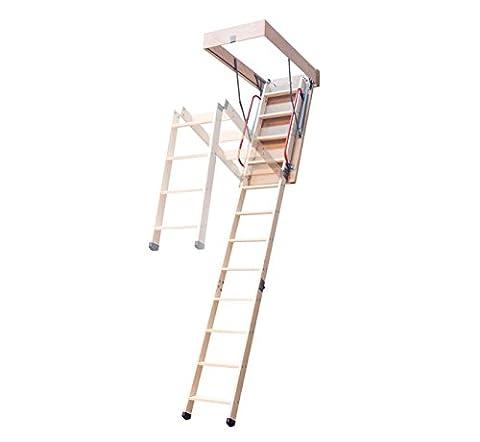 DJM 2,8-m-Faltholzleiter mit Rahmen, für Dachböden, 1100x 550mm (Folding Attic Leiter)