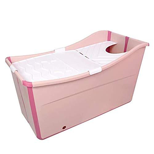 Aufblasbare Pools Faltende Badewanne Badewanne Für Zu Hause Für Kinder Dicke Badewanne Badewanne Für Erwachsene Kann Sitzen Tragbarer Raum Bequemes Bad Langlebig (Color : Pink, Size : 90 * 40 * 57cm) - Pvc-dusche-badewanne-stuhl