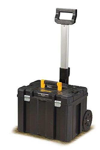 Stanley FatMax Mobile Werkzeugbox / Werkzeugkoffer TSTAK (zum Aufbewahren und Transportieren, Teleskophandgriff, Komfortgriff, Metallschließen, Ösen für Vorhängeschloss, Etikettenhalter) FMST1-75753 - 2