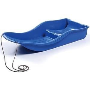 Blau Snow Glider Schlitten aus Kunststoff mit Ziehen Seil