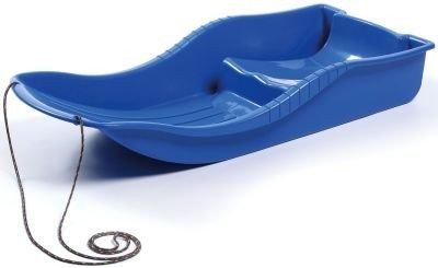 Luge rectangulaire bleu Snow resistant plastique
