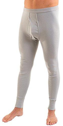 HERMKO 3540 2er Pack Herren lange Unterhose long johns (Weitere Farben) Grau