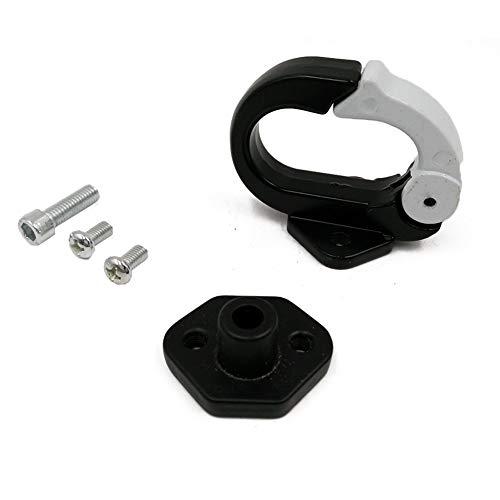 Halter Gepäckhaken Universal Motorrad Roller Gepäck Helmtasche Tragbügel Haken Xinanlongjb (Farbe : Schwarz-Schwarz) -