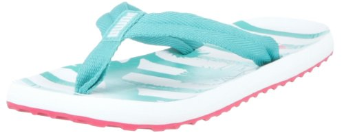 Puma Epic Flip Beach Jam 2 Wn's 353582, Damen Sandalen/Bade-Sandalen, Türkis (ceramic green-white 01), EU 35.5 (UK 3) (US 5.5)