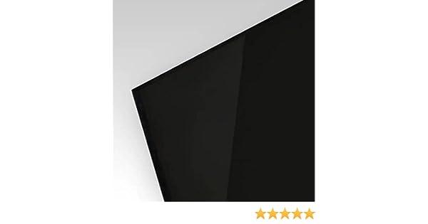 3mm PLEXIGLAS/® Platte 100x50 cm schwarz opak