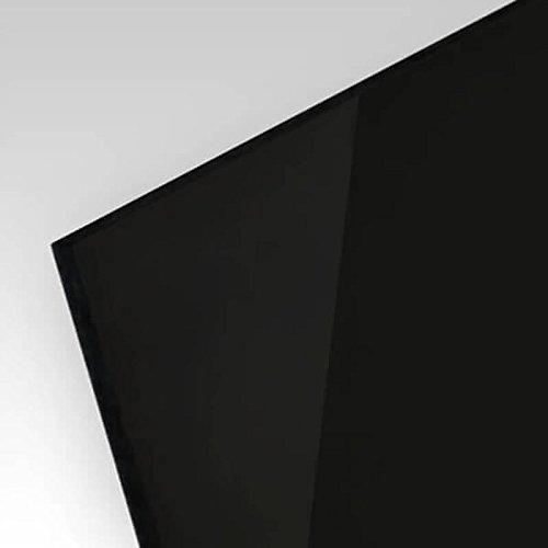 PLEXIGLAS® kratzfest schwarz gedeckt 9N870, edle schwarze Optik für Küchenrückwände, Treppengeländer, Trennewände; Maße: 100 x 50 cm, Stärke 5 mm