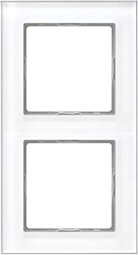 Preisvergleich Produktbild Jung Rahmen Glas 2fach Serie A Creation alpinweiß, 1 Stück, AC 582 GL WW