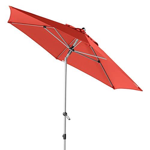 Doppler EXPERT Auto Tilt 320 - Knickbarer Sonnenschirm für Balkon oder Terrasse - Regenabweisend - ca. 320 cm - Terra Cotta