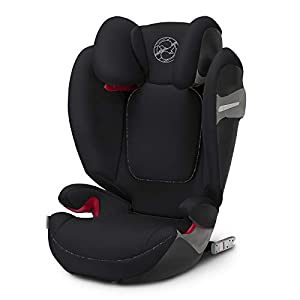 CYBEX Gold Solution S-Fix Child's Car Seat, For Cars with and without ISOFIX, Group 2/3 (15-36 kg), From approx. 3 to approx. 12 years, Urban Black   9