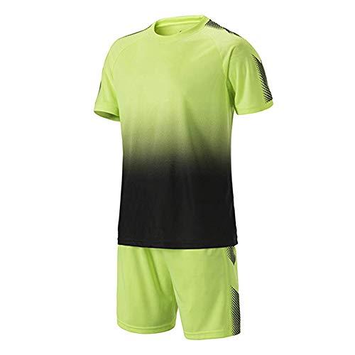 Green Mann Kostüm Jugend - Meijunter Fußball Training Suit - Jugend Erwachsene Soccer Jerseys Sportbekleidung Hemden + Shorts Set Wettbewerb Uniforms Tracksuits