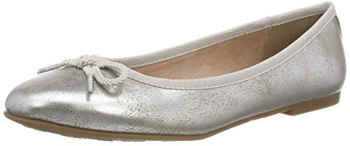 Tamaris Damen 22123-21 Geschlossene Ballerinas, Silber (Silver 941), 40 EU