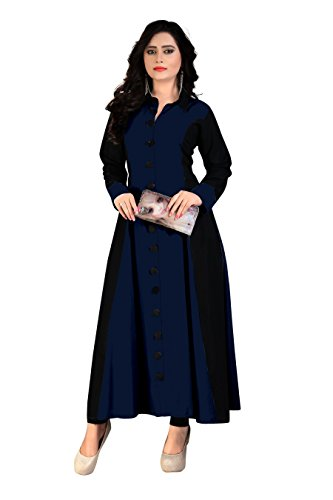 Madhuram Women's Rayon Party Wear Long Kurti (M-114 N3 XXL)