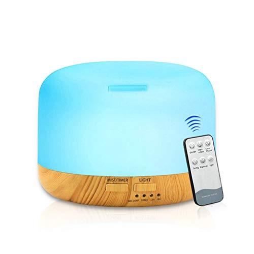 STRIR Humidificador Aromaterapia Ultrasónico con Control Remoto, Difusor de Aceites Esenciales 300ml,Difusor Aroma de Vapor Frío con 7 Colores de LED,Ambientador,Humidificador Bebes