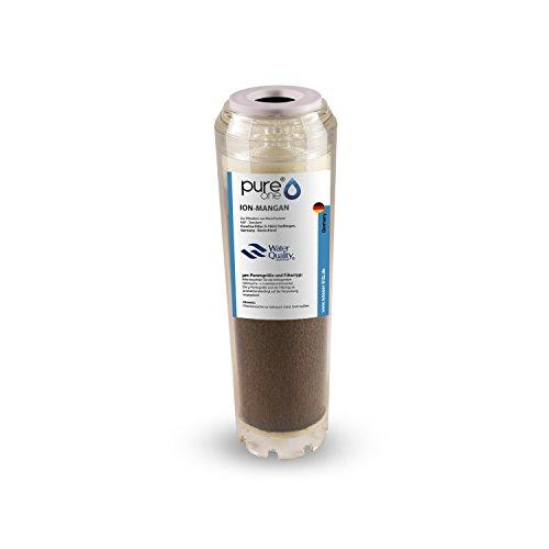 PureOne ION Mangan 100{a11dbf58589948704c01882f57d25bbbebd3eed52f2b491e72d6eb1ae618f4ad} Entmanganungs-Granulat. Ergänzend zu einem Enteisenungsfilter. Die Wasserfilter-Kartusche f. Hauswasserwerk Wasserpumpen. Für 10 Zoll Wasserfilter Gehäuse. Druckstabil