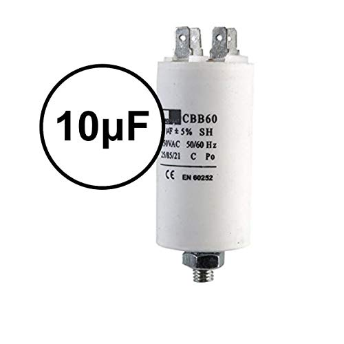 Hochwertiger Universal Start- und Laufmotorkondensator 450VAC 50/60Hz 10 UF Waschmaschine, Kompressor Klimaanlage Wasser & Luftpumpe
