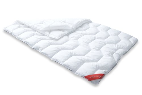 Badenia 03857247143 Bettcomfort 4-Jahreszeiten-Steppbett Trendline Basic Kochfest, 140 x 200 cm, weiß