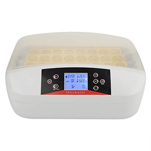Cocoarm Brutmaschine Inkubator Vollautomatischer Inkubator 32 Eier Automatisch Digital Inkubator für Hühner Ente Gans und Wachtel mit LED