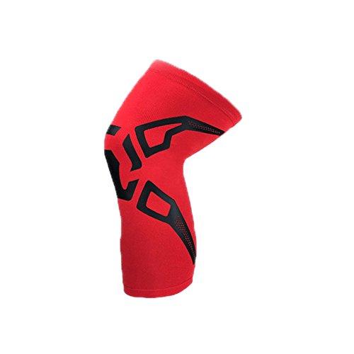 Goodtimes28Sommer Unisex Sport dünn Atmungsaktiv Kneelet Kniebandage Schützen Elastic Kneepad, Rot, M