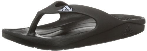 adidas Men's Duramo Thong Black and Running White Rubber Flip-Flops and House Slippers - 10 UK  available at amazon for Rs.1753