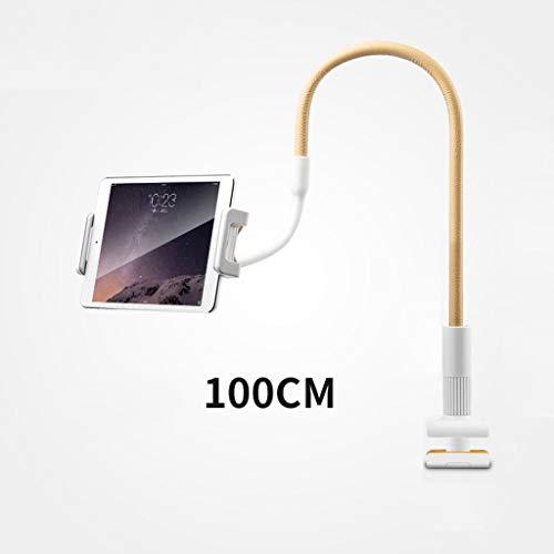 GHMOZ Handy- Und Tablet-Ständer, Verstellbare Und Abnehmbare Halterung Mit Halterung for 4-12,9 Zoll Handy Oder Tablet (Color : Beige, Size : 100cm) (Htc-tablet Entsperrt)