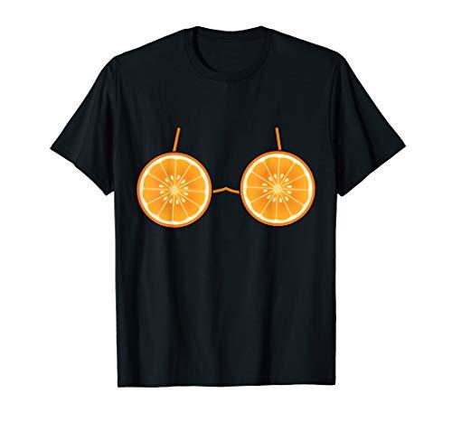 Frucht Orange Kostüm - Orange Bra Kostüm Nettes Frucht Halloween Geschenk T-Shirt