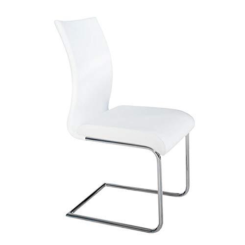 Invicta Interior Design Freischwinger Suave Weiss Stuhl Küche Esszimmer Sitzgelegenheit weiß
