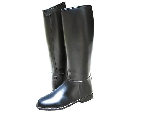HKM Reitstiefel -Kinder- mit Elastikeinsatz, Schuhgrösse 37: Weite= 33 Höhe= 37,5, schwarz