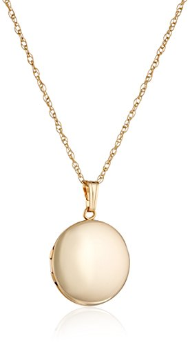 Amazon Yellow 14k Gold Filled Round Polished Locket Necklace 18
