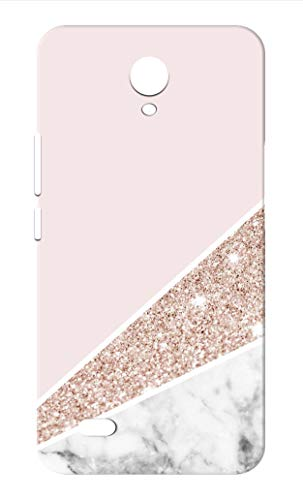 Oye Stuff Marble Printed Designer Case, Slim and Light Weight Back Cover for Vivo Y21l