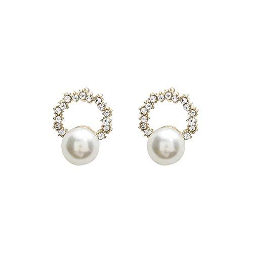 E-H Stilvolle Einfachheit Ohrringe Kleine Perle 925 Kleinen Duft Schmuck Stilvolle Einfachheit Ohrringe Temperament Weiblich - Beliebter Duft