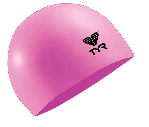 TYR Latex Swim Cap, Herren, Florescent Pink, Einheitsgröße