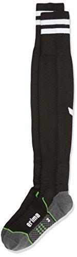 Erima Herren Stutzenstrumpf Stripes Schwarz/Weiß, 41-43 (Lila Und Gelb Nike Schuhe)