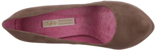Buffalo London 9669-177 Bl Kid Suede 115661 Donna Classic Pumps Beige (canela 01)