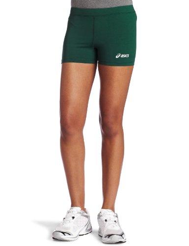ASICS Women's Low Cut Short, Forest, Medium (Spandex Volleyball Asics)