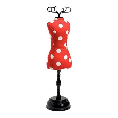 Prym Kleid Form Geformte Polka Dot Pin Kissen, Polyester, Rot/Weiß Rot Polka Dot Polyester