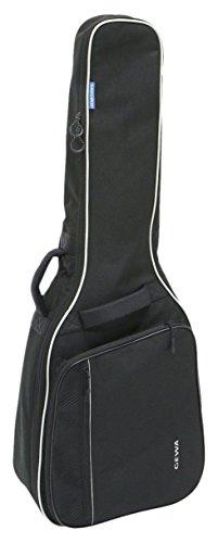 Gewa 212100 Economy 4/4 Gig Bag für Klassikgitarre, Gitarrentasche, Gitarrenhülle, schwarz, reißfest und wassergeschützt