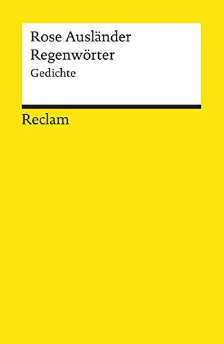 Regenwörter: Gedichte (Reclams Universal-Bibliothek)
