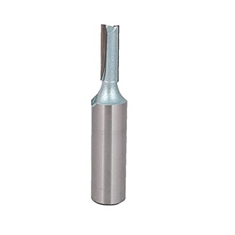 DealMux 1/2 Inch Shank Dia 1/4 Inch Cutting Dia Cutter TCT Double Flute Straight Router Bit