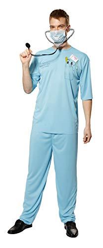 Halloween Kostüm Herren Verkleidung E.R. Doktor Arzt Uniform -