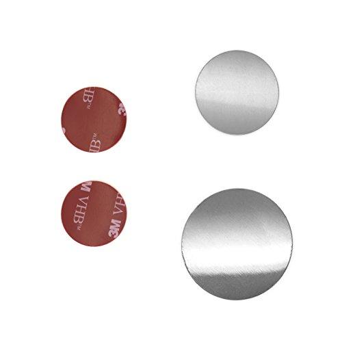 Mobilefox Ersatzteile Set für Magnet Kugelkopfhalterung mit 2 Klebeplättchen und 2 Metallplättchen Ersatz Platten