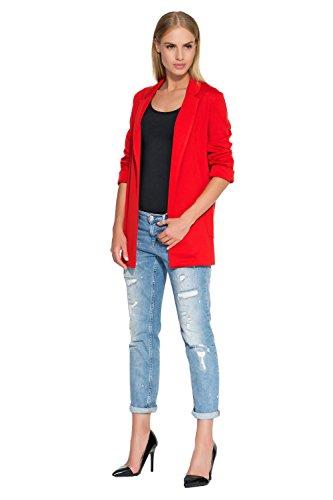MAKADAMIA Damen Blouson Mantel rot rot Rot