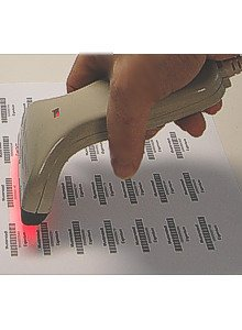 Pro-Line USB Hand-Barcode-Scanner CCD 82mm Handgerät, 100 Scan/Sek. in beige, von AllOfBarcode - 3