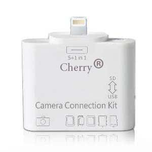 High Quality - Cherry(TM) 5in1 digital Camera Connection Kit USB/SD/TF Card Reader For iPad with Retina display and iPad mini with (8pin, Support all iOS system) smaller connector
