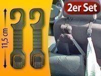 Preisvergleich Produktbild 2er Set Kfz Kleiderhaken für Kopfstütze Kleider Taschen Handtaschen Haken Auto