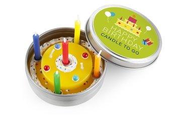 Kerze in Blechdeckeldose, Happy Birthday
