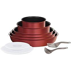 Tefal L6599303 Set de poêles et casseroles - Ingenio 5 Performance Rouge 10 Pièces - Tous feux dont induction