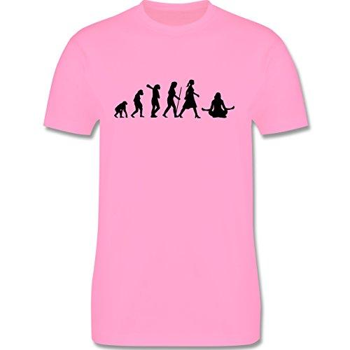 Evolution - Meditation Evolution - Herren Premium T-Shirt Rosa